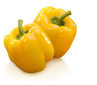 yellow paprika isolated on white