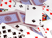 Background from playing cards