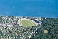 Aerial View of Charlottenlund Racetrack in Copenhagen