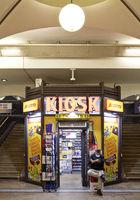 Kiosk in the Hackescher Markt S-Bahn station, Berlin, Germany, Europe