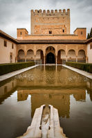 Pool in an inner yard in the Alhambra