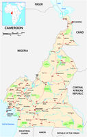 Vector road map of the West African state of Cameroon.eps