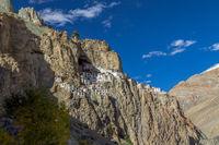 Spectacularly located Phugtal Gompa, Ladakh