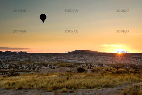 Cappadocia at sunset