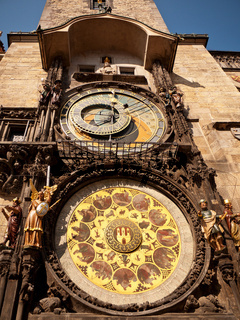 Town hall clock, Prague, Czech Republic