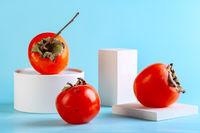 Ripe organic persimmon fruits.