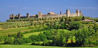 Monteriggioni in der Toskana