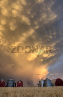 Sunset Storm Clouds Canada
