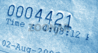 Close-up of invoice number