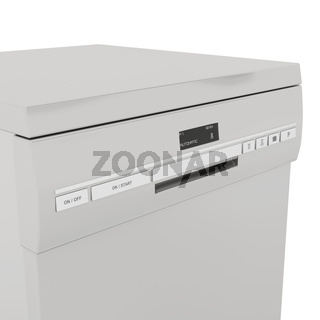 Front panel on dishwasher
