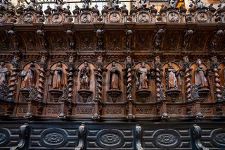 Interior of Cadiz Cathedral, Catedral de Santa Cruz de Cadiz, Spain
