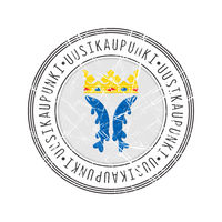 Uusikaupunki city postal rubber stamp