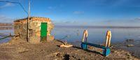 Drying Lake Kuyalnik in Odessa, Ukraine