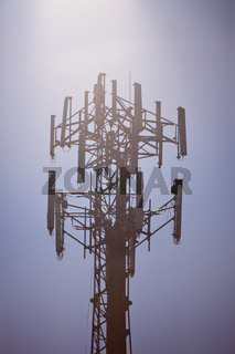 Top of guyed tower