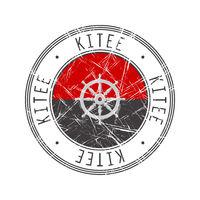 Kitee city postal rubber stamp