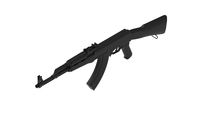 3D rendering of a assault rifle isolated on a white background. 3D model