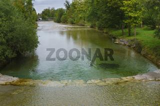 Fluss Weissach im Kreuther Tal, Oberbayern, Bayern, Deutschland, Europa