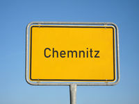 Place name sign Chemnitz