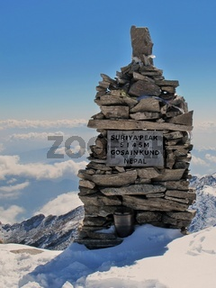 Suriya peak, 5145 m. altitude, Nepal