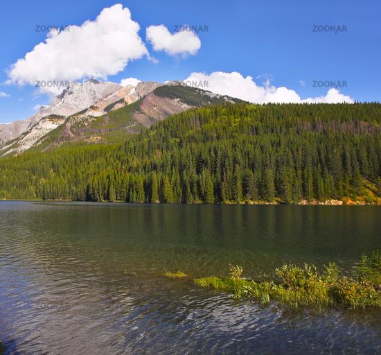 Beautiful lake in Northern America