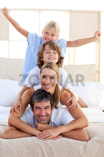 Loving family having fun