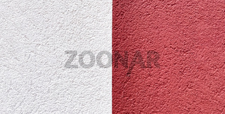 wall background painted half white and red