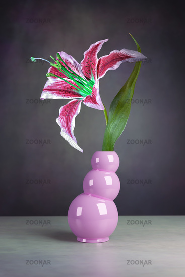 still life of a lily flower