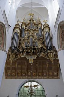 Stellwagenorgel der Marienkirche, Altstadt,   Hansestadt Stralsu