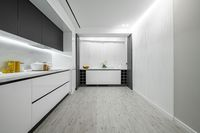 Luxury white and black modern marble kitchen