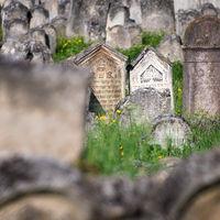 Austria, Burgenland, Eisenstadt, View of jewish grave yard