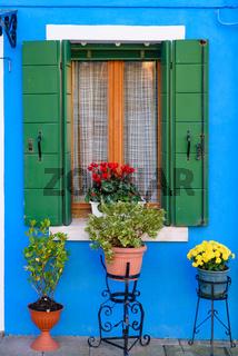 Mediterranean window decoration at Venice, Italy
