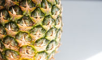 pineapple closeup with copy space on right