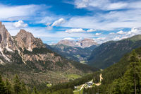 View of the Catinaccio group from Vajolet valley, Trentino, Italy