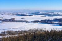 Zittauer Gebirge und Berg Jeschken im Winter - Zittau Mountains and Mountain Jested in winter with many snow