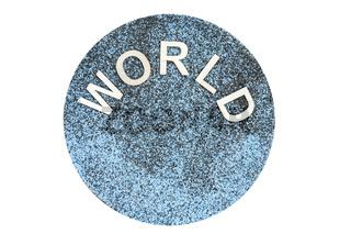 Word world on sand