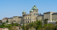 a view of the Swiss capitol building or Bundeshaus in Bern