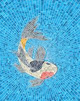Koi carp fish mosaic
