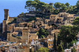 Medieval Town Of Tossa De Mar Catalonia Spain