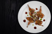 Roasted quails with vegetable