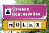 Spain: Sign of Orreaga Roncesvalles