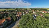 Luftbild Siptenfelde im Harz Sommer