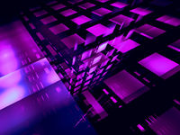 Abstract geometric background of cubes with perspective effect - 3d illustration
