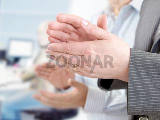 Closeup of  hands applauding