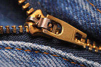 image of classic jeans zip