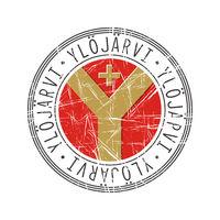 Ylojarvi city postal rubber stamp