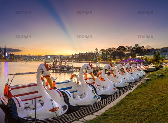 Pedal ducks at Xuan Huong Lake, Dalat, Vietnam