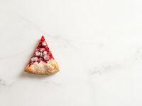 Raspberry galette, raspberries tart, copy space