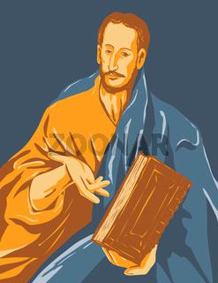 Artwork of El Greco Domenikos Theotokopoulos Entitled Saint James the Minor or Saint James the Less Circa 1609 WPA Poster Art