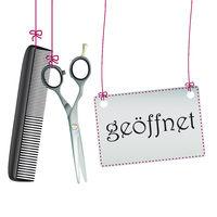 Hanging Scissors Comb Geoffnet Banner
