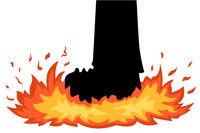 Foot Stomp Fire Cartoon